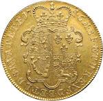 George II, 1727-1760, Gold 5 Guineas, 1746