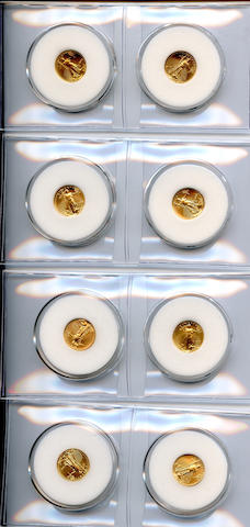 American Eagles 1/10 Ounce $5 Gold (8)