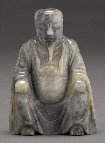 A gray jade carving of Zhenwu 20th century