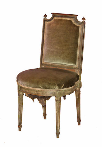A Louis XVI painted chaise third quarter 18th century