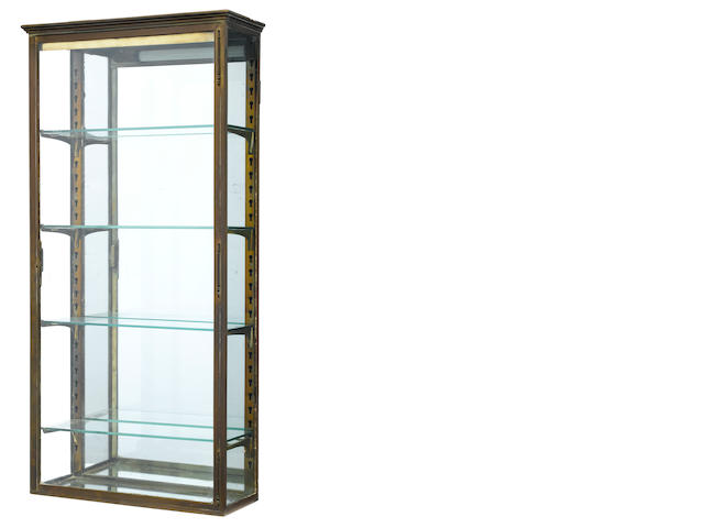 A French gilt metal hanging vitrine <BR />early 20th century