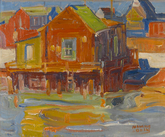 Maurice Logan (American, 1886-1977) Belvedere Waterfront 15 1/4 x 18 1/4in