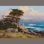 Albert Thomas DeRome (American, 1885-1959) Carmel Bay from Pescadero Point, 1955 18 x 24in