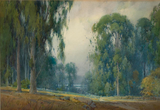 Percy Gray (1869-1952) Eucalyptus in Marin County, California 18 1/2 x 27 3/4in