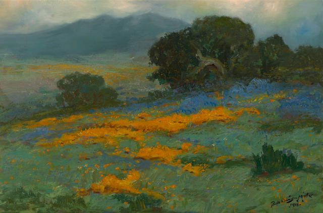 Ralph Davison Miller (American, 1858-1945) Poppies and lupine, 1918 20 x 30in