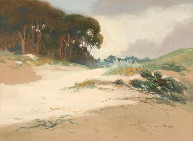 Mary DeNeale Morgan (1868-1948) Carmel dunes and coastal trees 16 x 21 3/4in