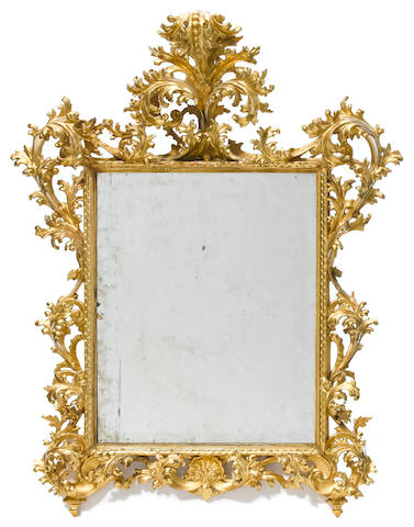 A Florentine giltwood mirror  fourth quarter 19th century