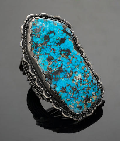 Stunning Navajo Turquoise Cuff Bracelet