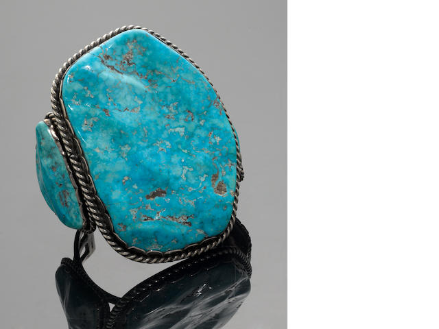 Large Navajo Turquoise Cuff Bracelet