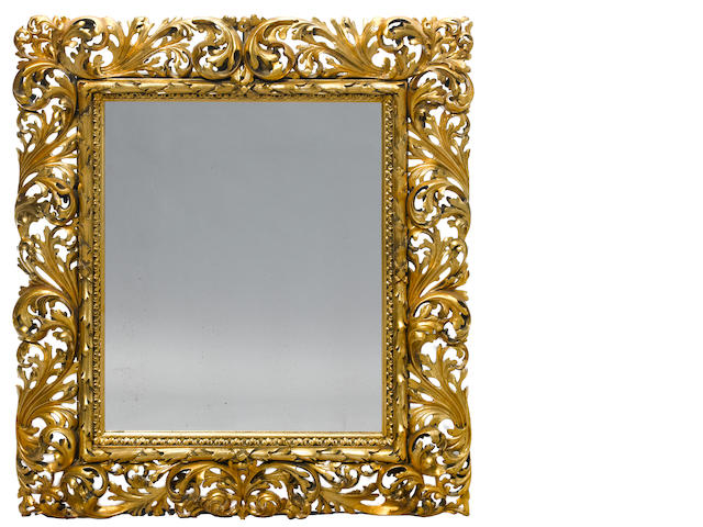 A Florentine carved giltwood mirror <BR />late 19th century