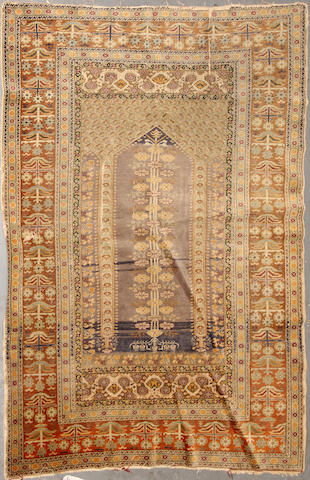 A Turkish rug  size approximately 4ft. x 5ft. 7in.