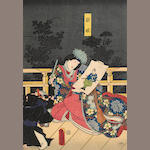 Utagawa school<BR />Eleven woodblock prints