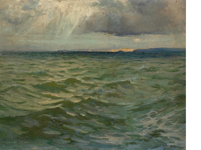 Sydney Laurence (American, 1865-1940) Godrevy, St. Ives 12 1/2 X 15 3/4in