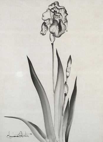 Chiura Obata (1885-1975)<BR />Three Floral Sketches