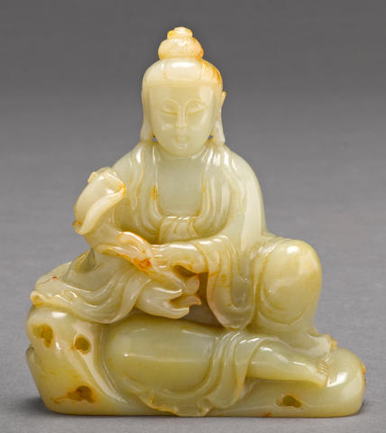 A jade carving of Guanyin 20th century