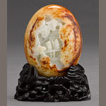 A carved jade pebble  20th century