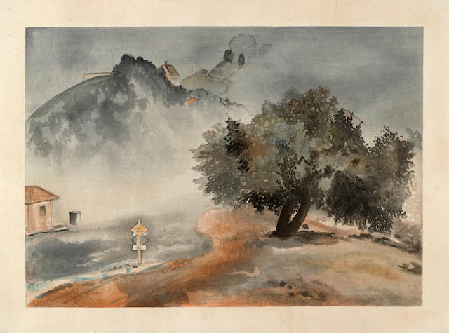 Chiura Obata (1885-1975) Storm, Lick Observatory Dawn, Knight's Ferry