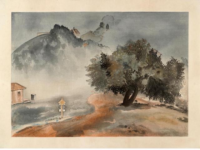 Chiura Obata (1885-1975) Storm, Lick Observatory<BR />Dawn, Knight's Ferry