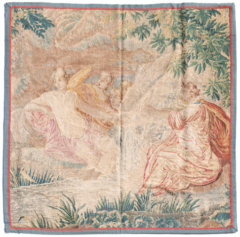 An Aubusson mythological tapestry fragment <BR />18th century