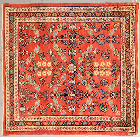 A Sultanabad rug  size approximately 3ft. 7in. x 4ft. 1in.