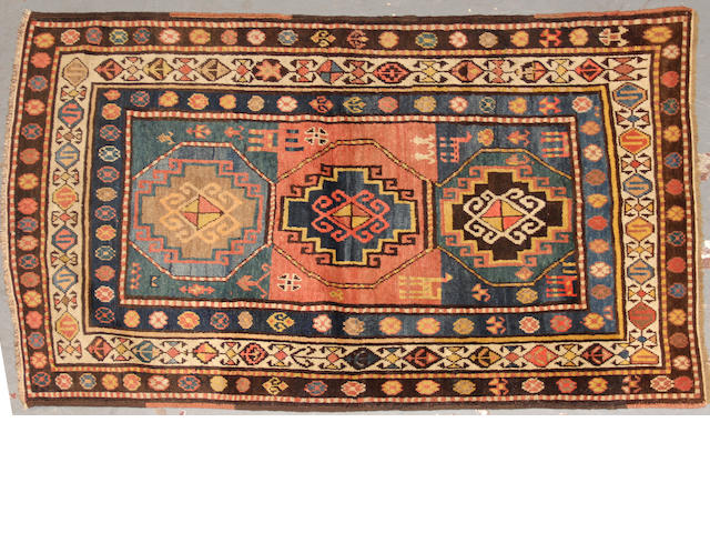 A Kazak rug  size approximately 3ft. 6in. x 5ft.