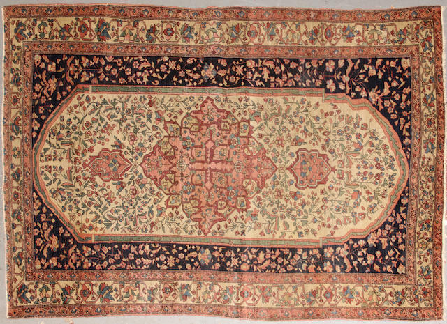 A Fereghan Sarouk rug  Central Persia size approximately 4ft. 5in. x 6ft. 7in.