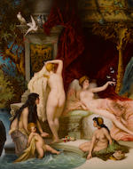 A fine and large Berlin (K.P.M.) porcelain plaque: Im Sommer  late 19th/early 20th century