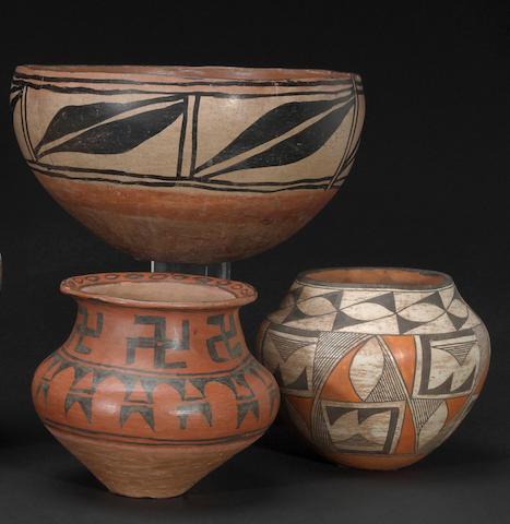 Three Pueblo vessels
