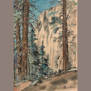Chiura Obata (1885-1975). Eagle Peak Trail