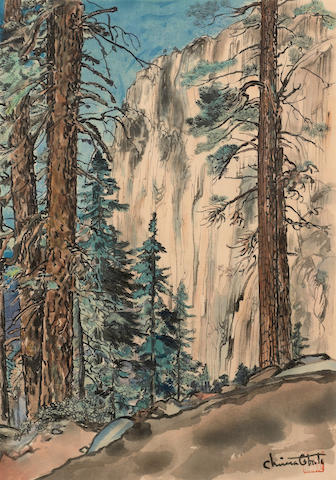 Chiura Obata (1885-1975) Eagle Peak Trail
