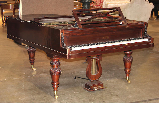 A Pleyel mahogany cased grand piano