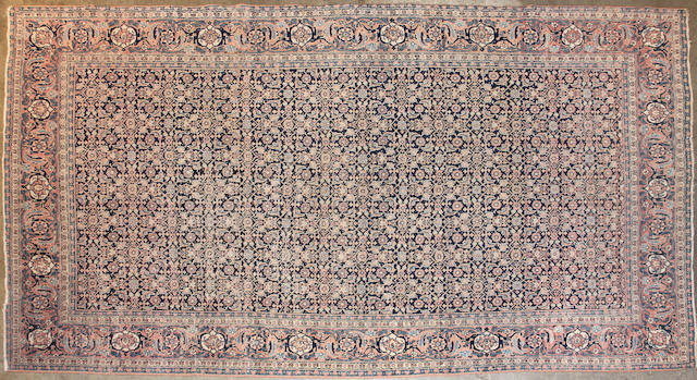 A Tabriz carpet size approximately 6ft. 4in. x 10ft.