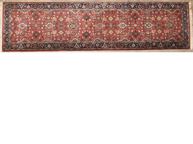 An Indian runner size approximately 2ft. 6in. x 10ft.