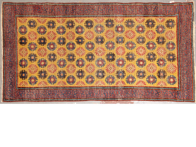 A Caucasian rug size approximately 3ft. 6in. x 7ft.