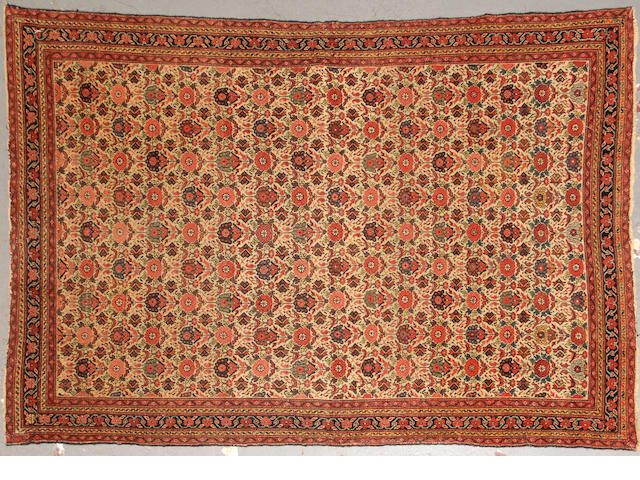 A Fereghan rug size approximately 4ft. 5in. x 6ft. 8in.