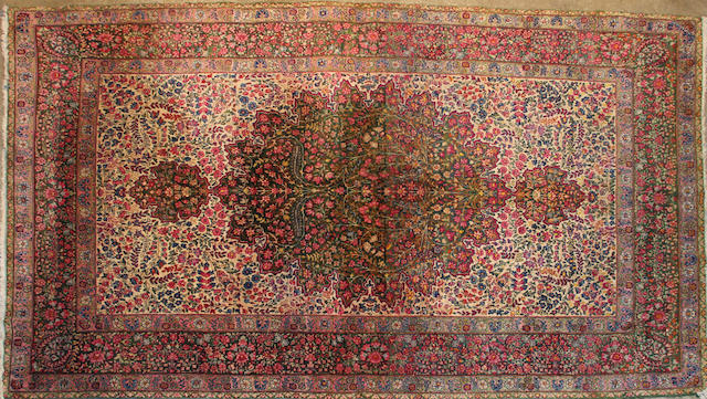 A Lavar Kerman rug size approximately 4ft. 3in. x 7ft. 3in.