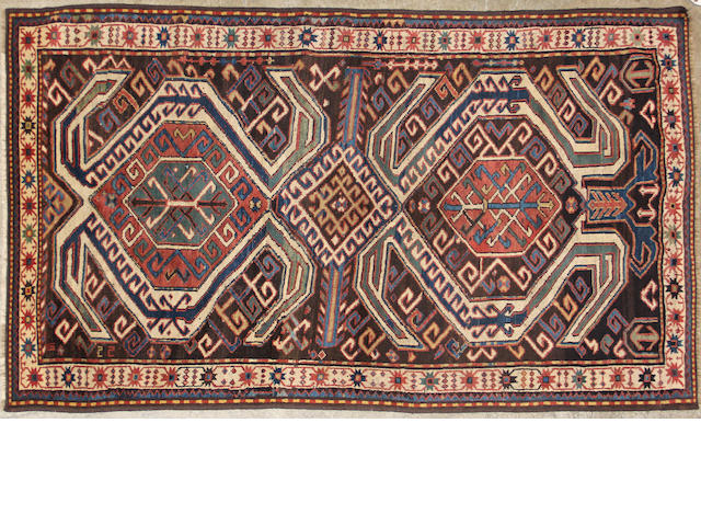 A Kazak rug  size approximately 3ft. 11in. x 6ft. 11in.