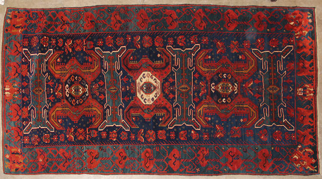 A Kazak rug  size approximately 5ft. x 9ft. 3in.