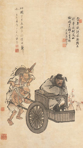 Attributed to Zhang Yin (1761-1829) Zhong Kui and Demons
