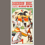 Artist Unknown (20th century) <BR />Robinson Bros. Trained Animal Shows (horses)