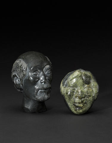 Two Henry Evaluardjuk stone sculptures