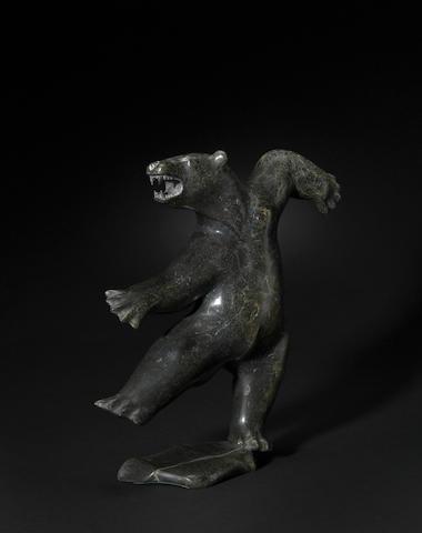 A Davie Atchealak stone sculpture