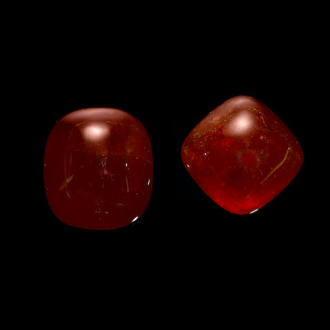 Two Large Spessartite Garnets