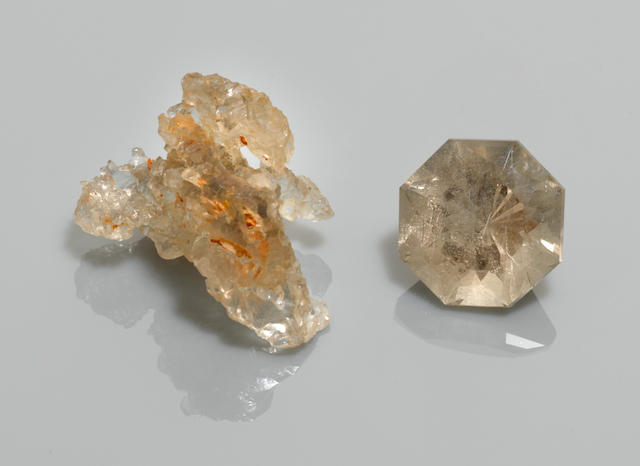 Petalite Rough and Cut