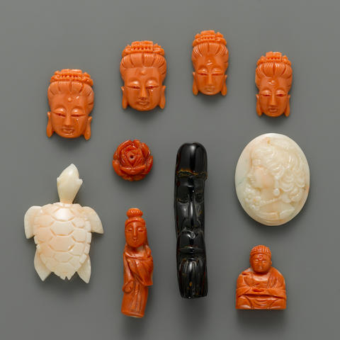 Group of Carved Coral
