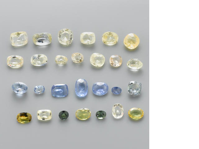 Group of Fancy Colored Sapphires