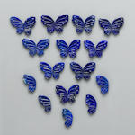 Group of Carved Lapis Butterfly Wings
