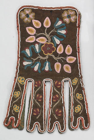 A Cree beaded octopus bag