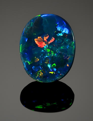 Black Oval Cabochon Opal