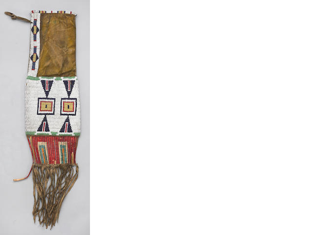 A Sioux beaded pipe bag